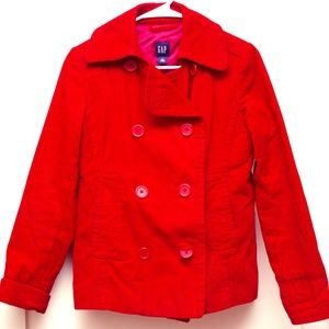 GAP Corduroy Coat - A Lovely Red